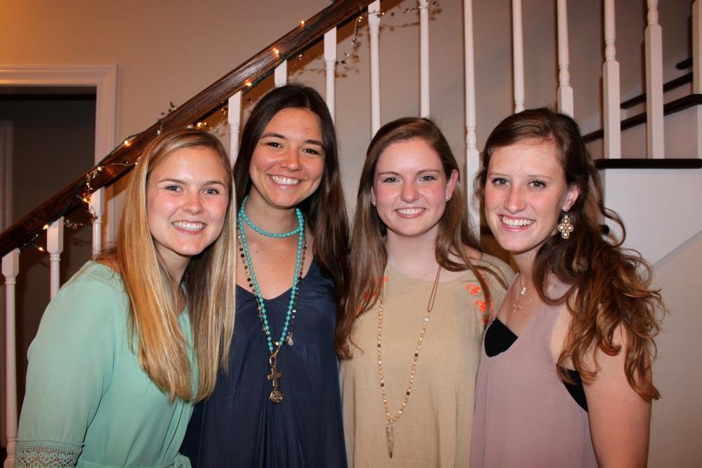 margi, caroline, emily & caroline--these girls are roommates right now and they're the coolest. each one is hilarious and they getttt it. wish i was their fifth roommate.(fun fact: caroline on the far right was my first college friend. so glad she was.)