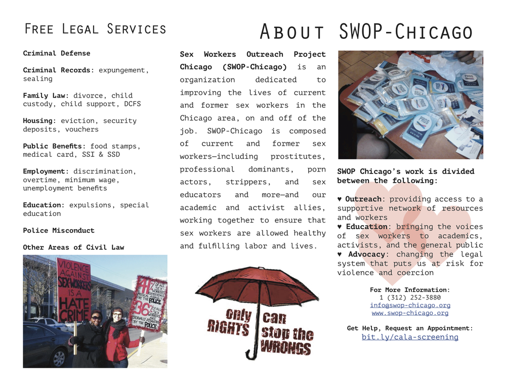 SWOP Community Activism Law Clinic Brochure
