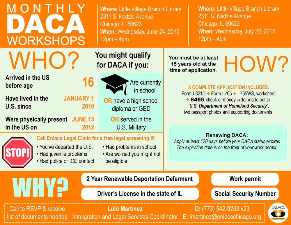 English June July DACA Workshop Flier