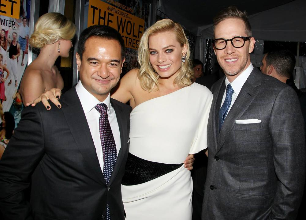 Riza-Aziz-Joey-McFarland-Margot-Robbie-NYC-Wolf-of-Wall-Street-Premiere-red-granite-pictures-red-granite-international-production-company.jpg