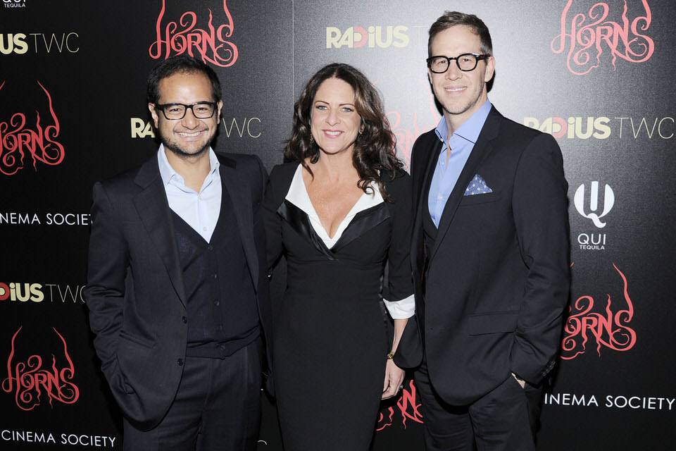 Producers-Riza-Aziz-Cathy-Schulman-and-Joey-McFarland-at-Horns-Movie-NYC-Premiere-Red-Granite-Pictures-photographer-patrickmcmullan.JPG