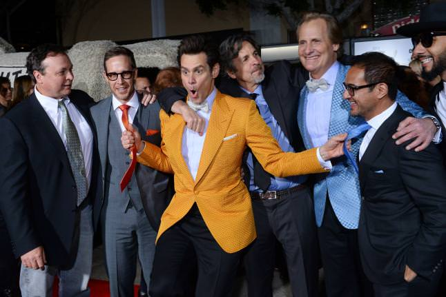 Farrelly-Brothers-Joey-McFarland-Riza-Aziz-Jeff-Daniels-Jim-Carrey-Swizz-Beatz-Dumb-and-Dumber-To-LA-Premiere-Red-Granite-Pictures-Dumb-To-11.03.14-118.jpg