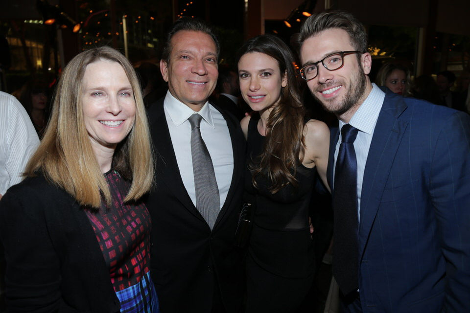 Antoniette Costa with parents and brother (Costa's) at the Dumb and Dumber To Los Angeles Premiere After Party