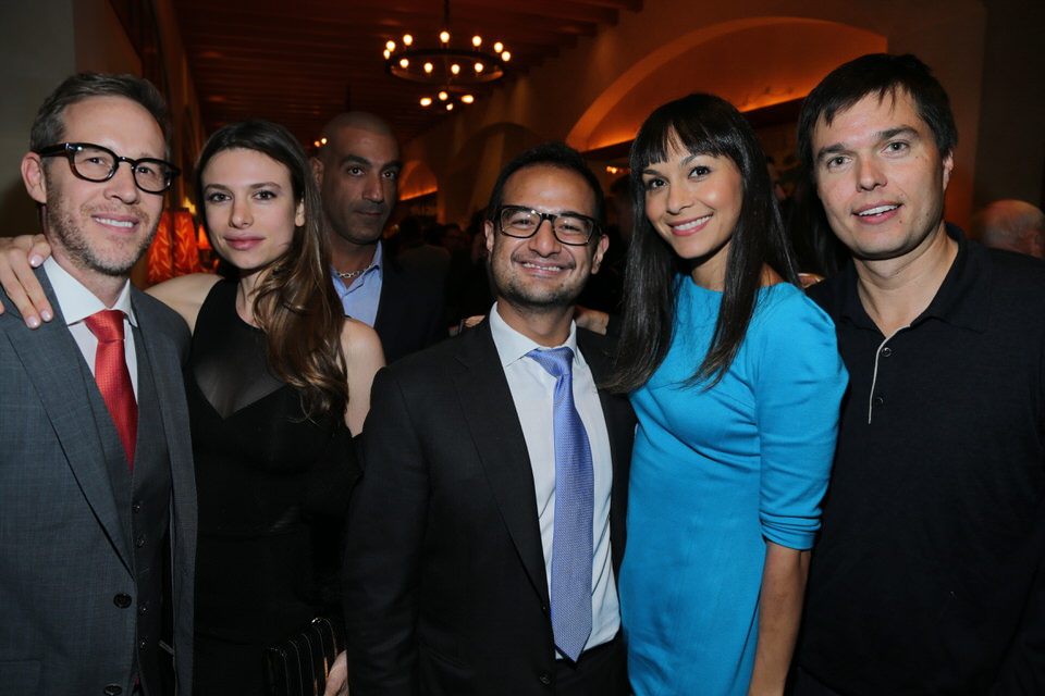 Joey McFarland, Antoniette Costa, Riza Aziz and guests at the Dumb To Los Angeles premiere after party.