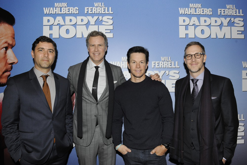 DUBLIN, IRELAND - DECEMBER 7: Producer David Koplan, Will Ferrell, Mark Wahlberg and Producer Joey McFarland attends the Dublin Premiere of 'Daddy's Home' at the Savoy Cinema on December 7, 2015 in Dublin, Ireland. (Photo by Clodagh Kilcoyne /Getty Images for Paramount Pictures)