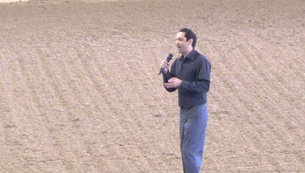 David Singing the National Anthem at the LA Equestrian Center 2015