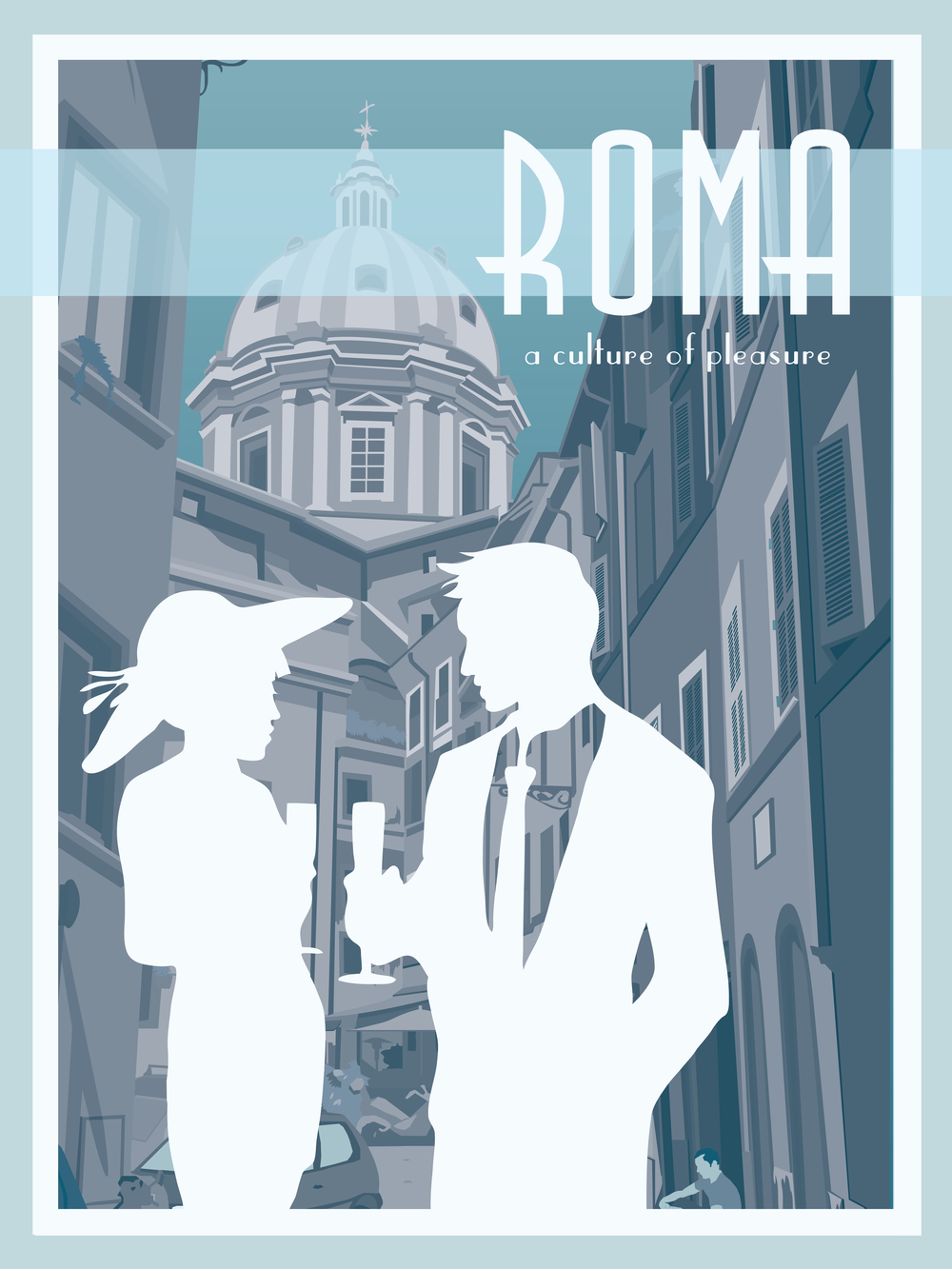 Rome Travel Poster (Night)