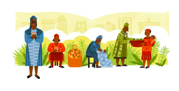Google's 'doodle' celebrates the achievements of an entrepreneur from Ghana who helped to empower millions of women through business