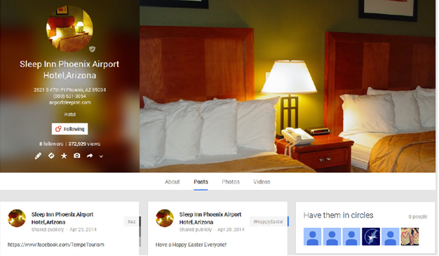 This Sleep Inn located just a few minutes from Sky Harbor International Airport has also chosen our company to monitor their Google + , Facebook & Twitter Pages.