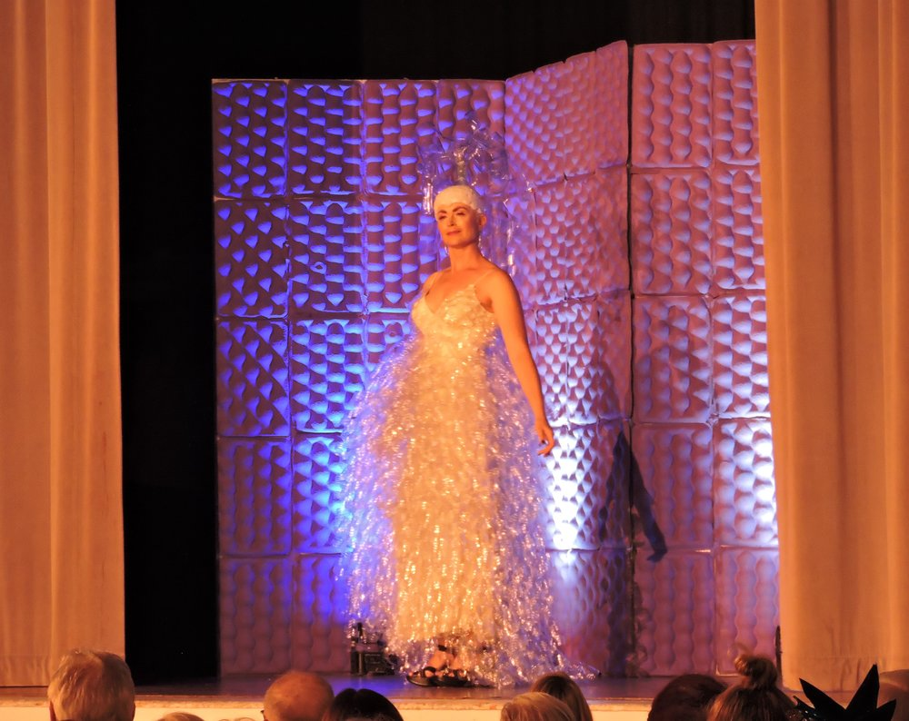 Geyser Gown at Sonoma Community Center's Trashion Fashion April 2018