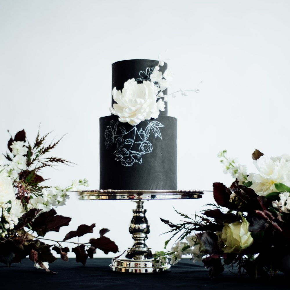 TIMELESS MONOCHROME  Bold, beautiful and timeless luxury in black and white with metallic touches.