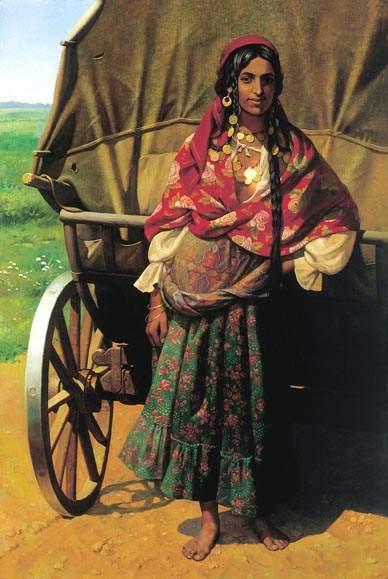 Цыганка-кэлдэрарка – одна из ранних работ «цыганской» серии Н. Бессонова