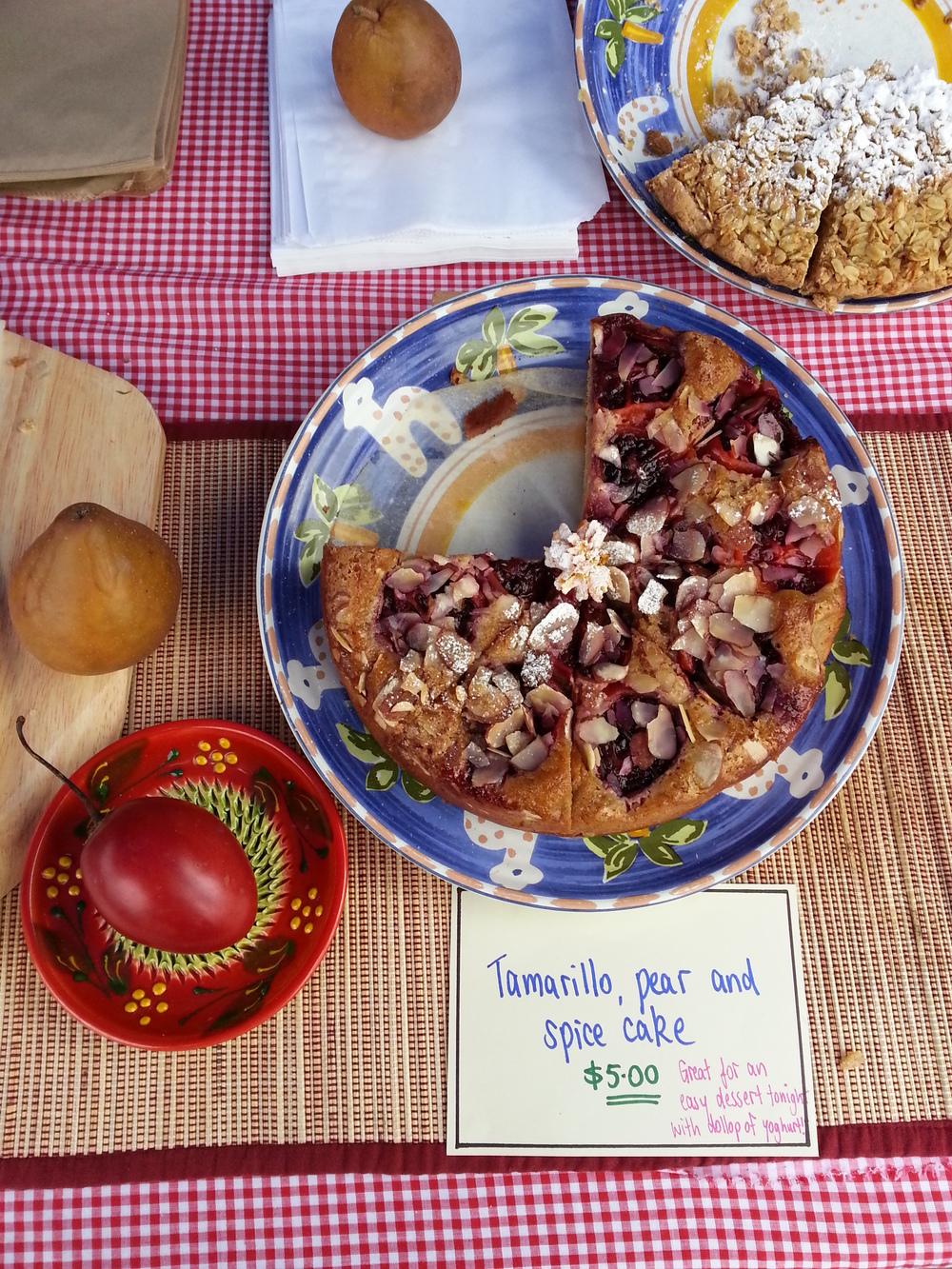 Spiced tamarillo and almond cake