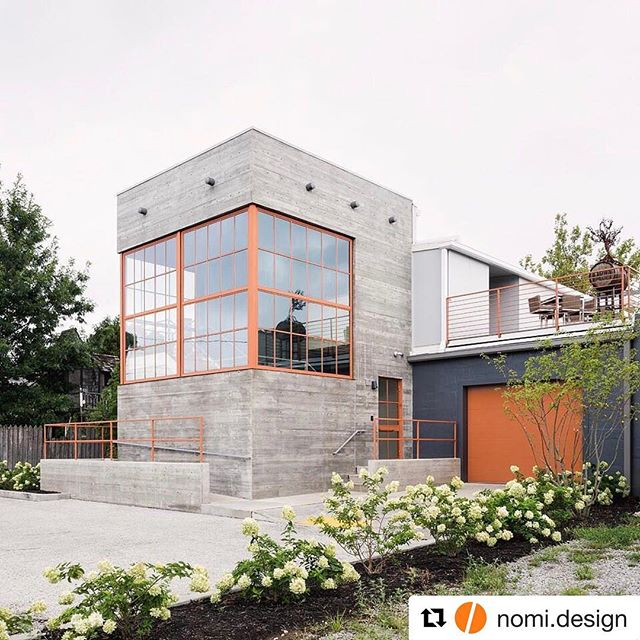 Great to see final pictures of The Moose Lodge by @nomi.design #mooselodge #architecture #boardform #concrete #lexington