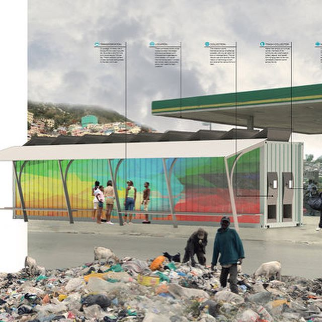 Residus' solution for slums was named a special mention by @shelterglobal global! @ratiopartners is very excited that trash collection was given its moment in the sun! See the link in our bio. Great work @pmorgan67 , @anthonyquilter and @jhad_spoken #specialmention #architecture #architecturecompetition #competition #trashcollection #slums #solutions