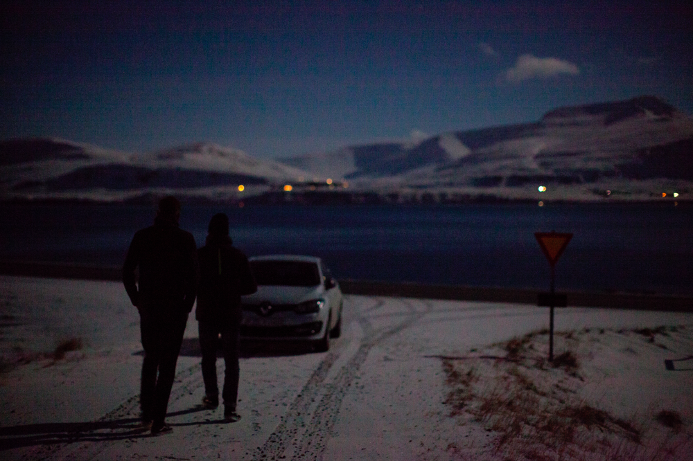 Just arriving in Reykjavik Iceland, driving to our house in the middle of nowhere. Full moon was lightening the whole place and we were starting to discover the beautiful landscape of Iceland in the middle of the night.