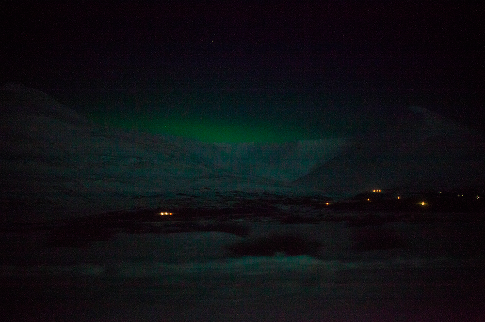 On the road we've been blessed by an aurora borealis. Iceland welcoming is amazing