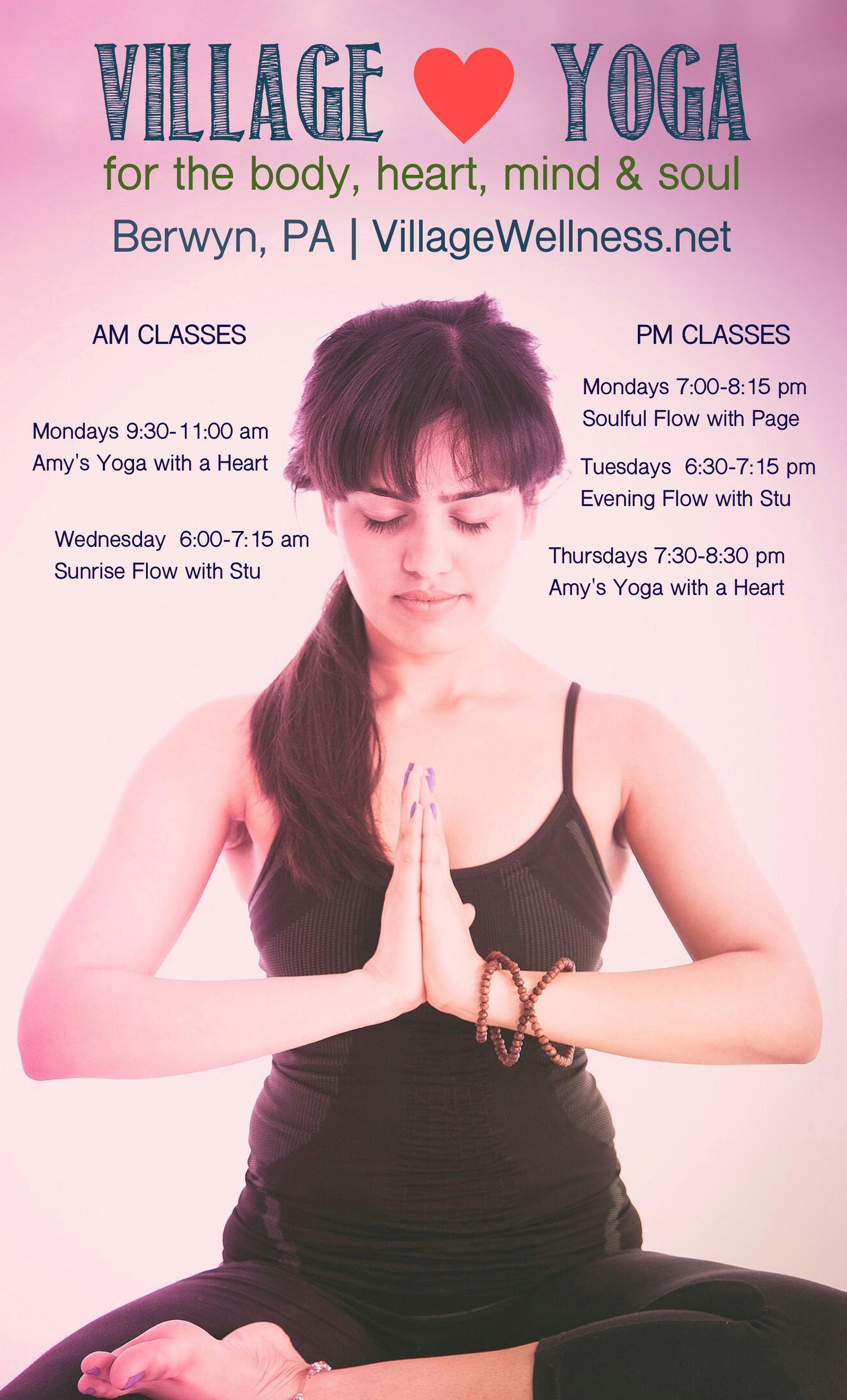 a yoga village schedule