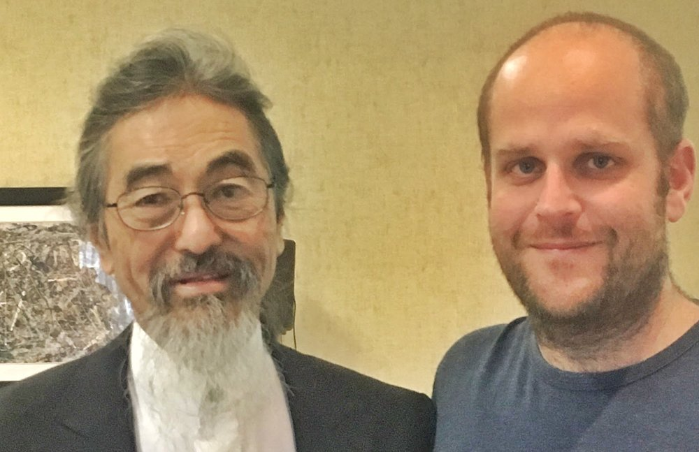 Lance with his Esoteric Acupuncture teacher Dr. Mikio Sankey