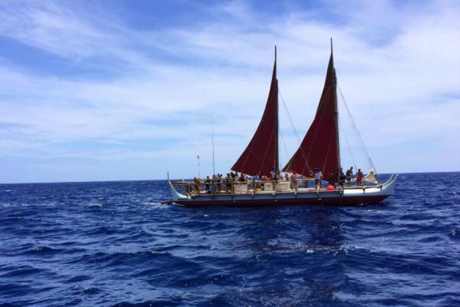 Credit Hōkūleʻa Image ® Polynesian Voyaging Society. Credit Molly Solomon