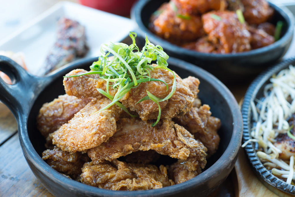 Fried Chicken Authentic Korean, really? Well actually Yes! Korean's have had a deeploveaffair withfried chicken and the city ofSeoul has thousands of pubs that just sell Fried Chicken and Beer.