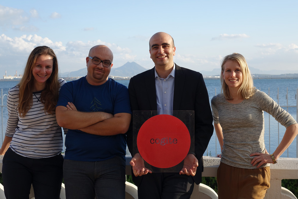 The Cogite Board of Directors (left to right):Rym Baouendi, Houssem Aoudi and Zied Mhirsi.
