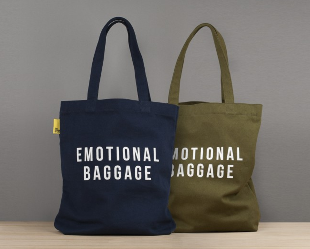The  School of Life  offers therapy, workshops and courses, and have a lovely sense of humor which translates well to these totes.