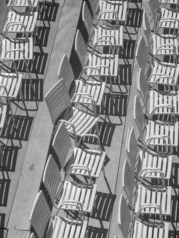 Chairs, Trogir, Croatia