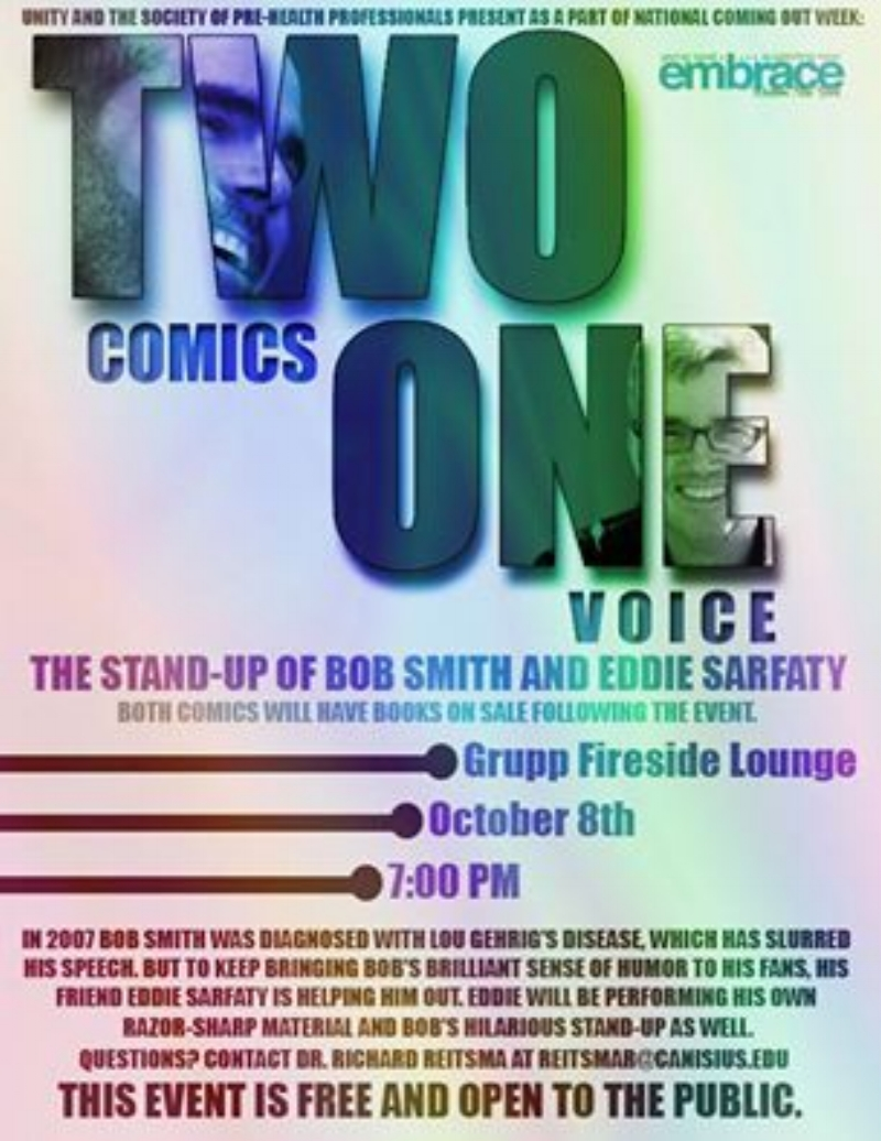 TWO COMICS ONE VOICE GRUPP FIRESIDE LOUNGE BUFFALO, NY Saturday, October 18th
