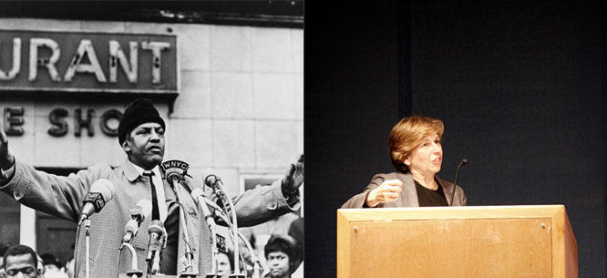 Bayard Rustin (Library of Congress) and Randi Weingarten (Julia Standovar) - Via Dissent