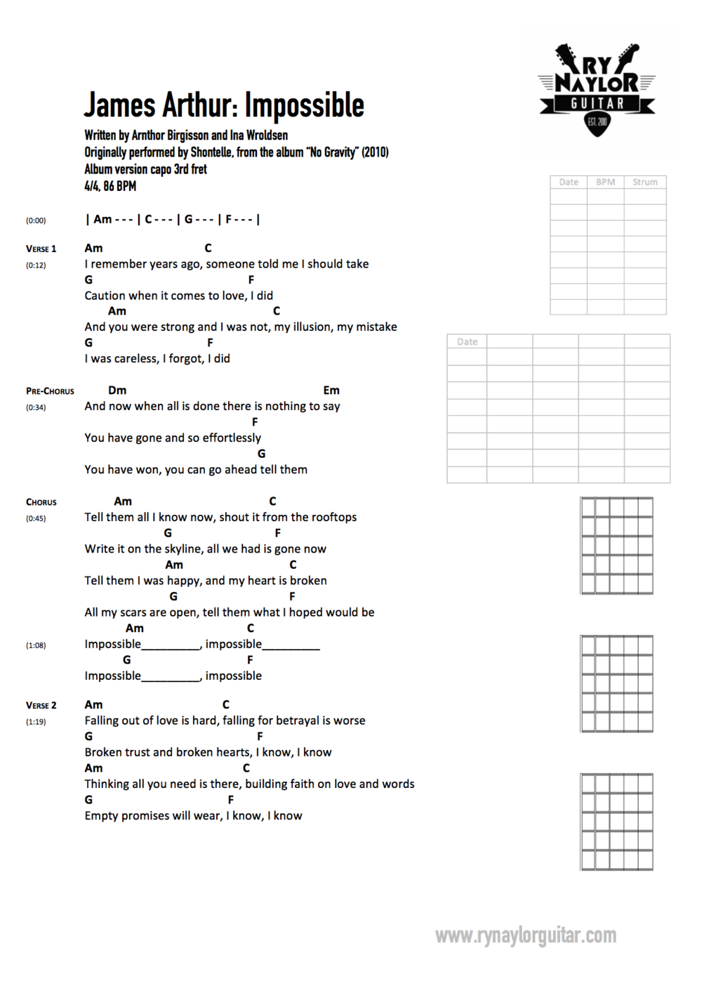 Nothing Is Impossible Planetshakers Chords   Sheet and Chords ...