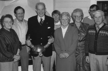 Gunni Westman, Martin Löfqvist, Holger Nyberg, Gudrun Ahlgren, Gun-Marie Löfqvist, Eivy Sundqvist, Jan Forsman och Almar Lindberg