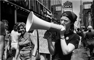 "NYC carpenter Irene Soloway, circa 1984. Photo courtesy Jane LaTour from ""Sisters in the Brotherhood/Talking History"" website."