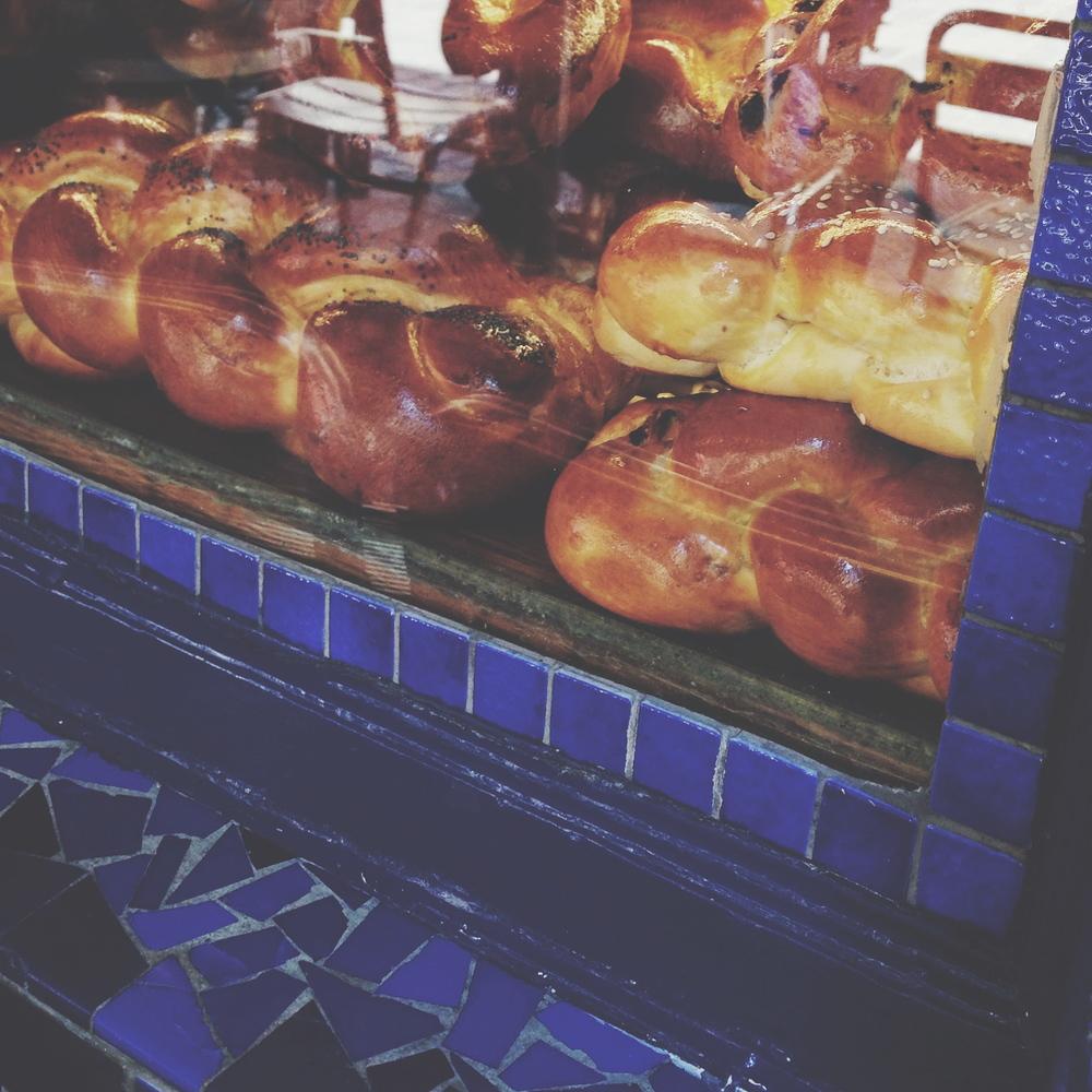 Yiddish bakery at Rue des Rosiers/Rue des Ecouffes (4° arrondissement)