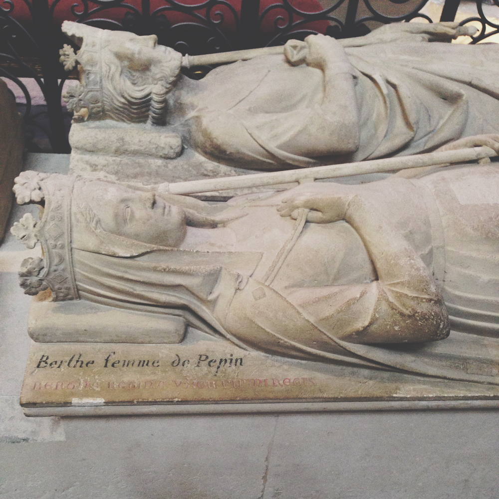 Recumbent effigy in the Basilica of Saint Denis, the Royal Necropolis of France