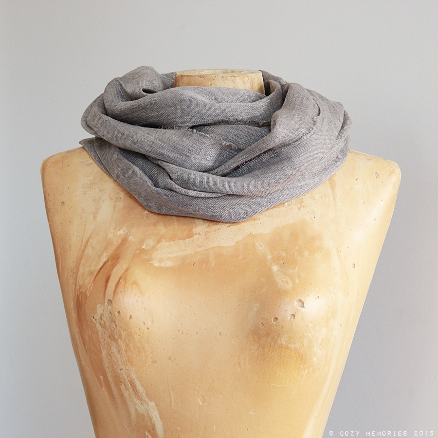 linen voile scarf