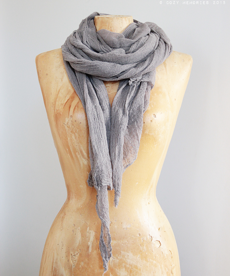 extra long cotton gauze scarf