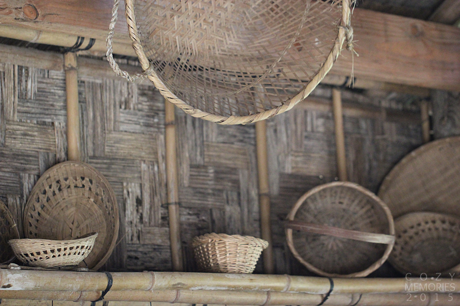 inside the Laotian house (everything was made of bamboo)