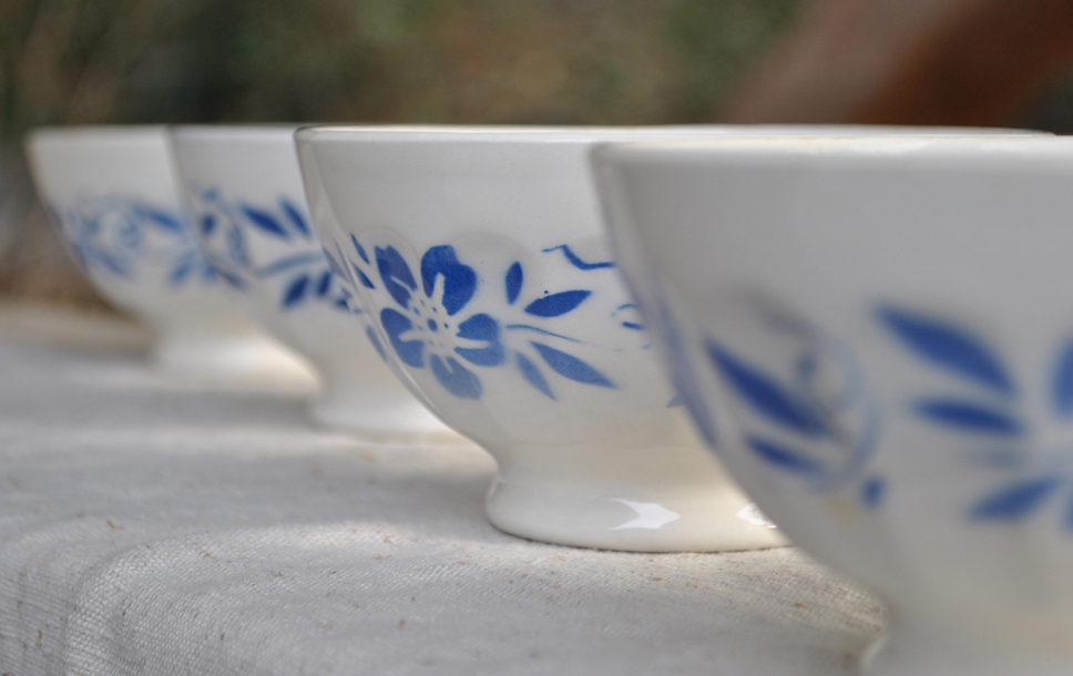 Antique Cafe Au Lait bowls