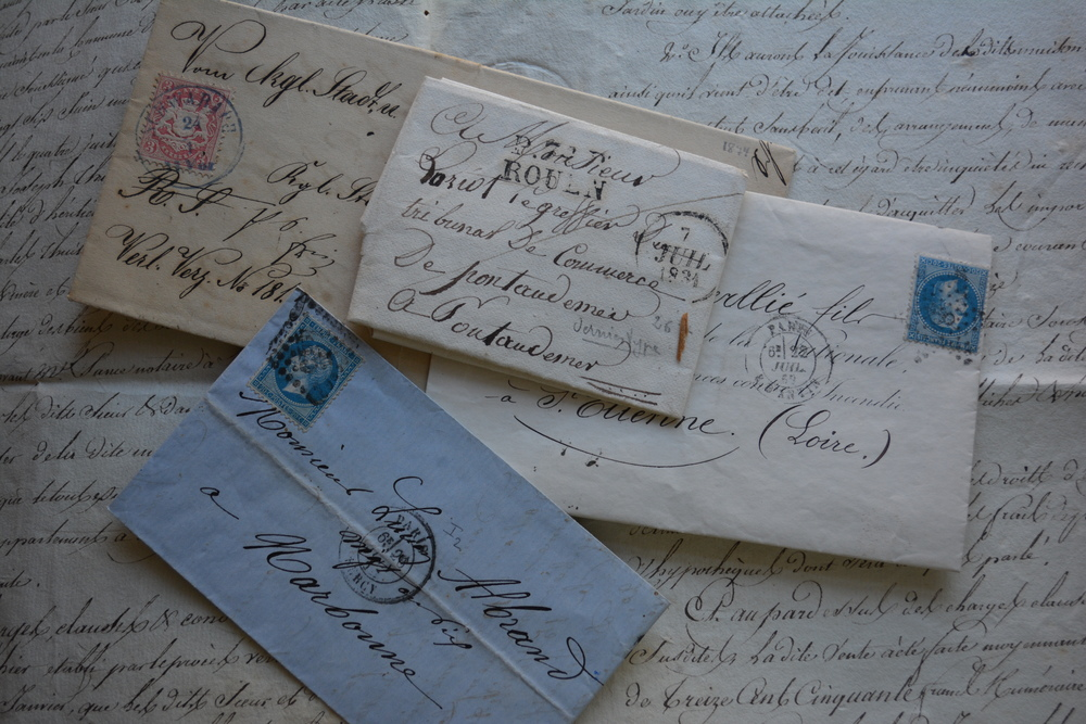 Antique French Letters from 1834