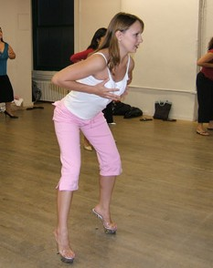 Kimberly teaching exotic dance