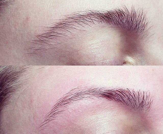 Before & After - *Actual client brows