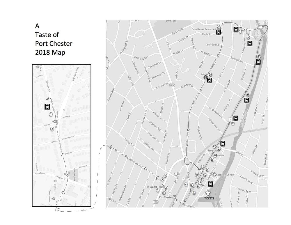 2018 Taste of Port Chester bw map.jpg