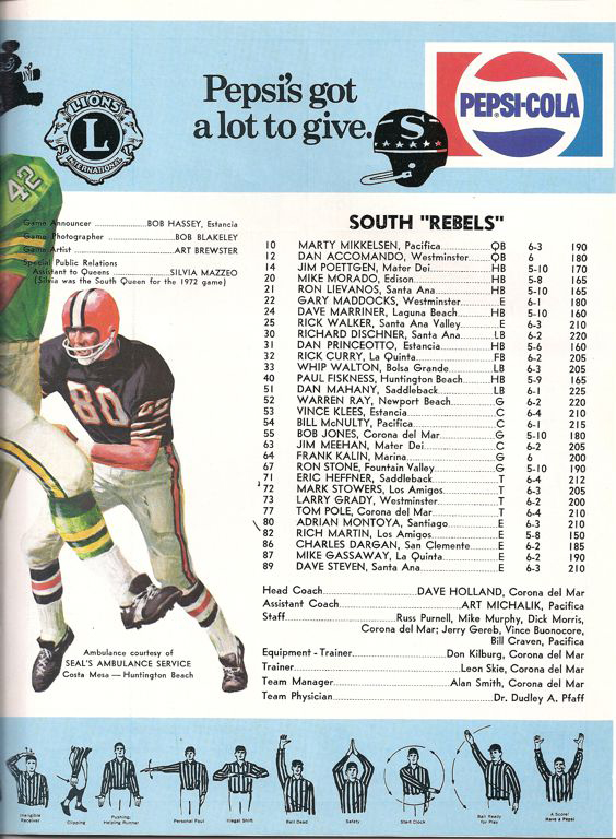 1973 South Roster, Coaches.jpg