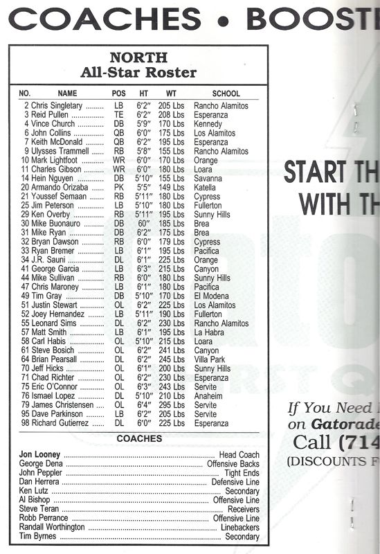 1991 North Roster, Coaches.jpg