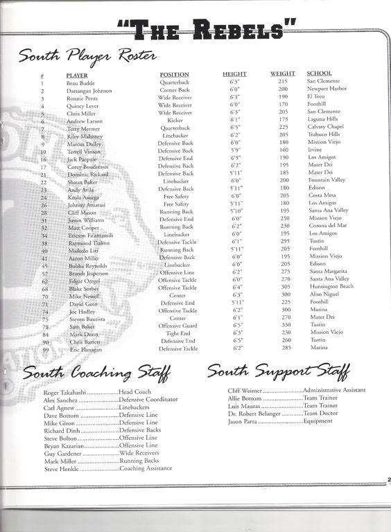 2003 South Roster, Coaches.jpg