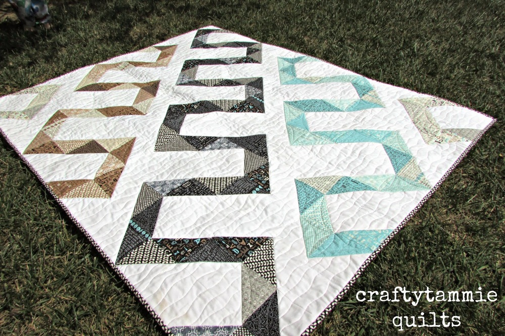 Quilt pattern from Moda Bake Shop. This design allows the actual quilting to really shine.