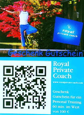 GESCHENK GUTSCHEIN, PRESENT VOUCHER > PERSONAL TRAINING, COACHING / YOGA    > BOOKING / CONTACT