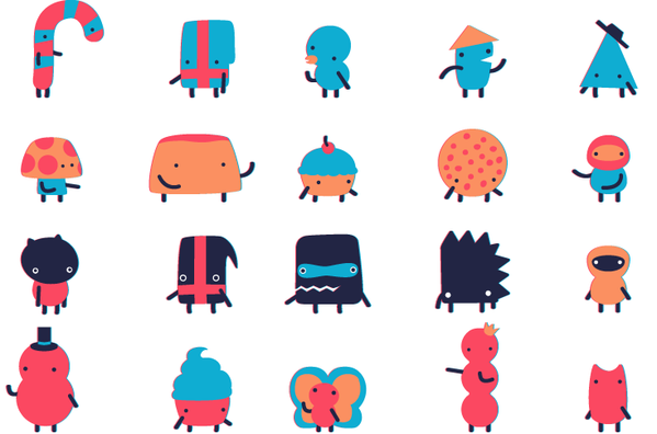 A small collection of characters based on candy and clouds and Isaac's childhood