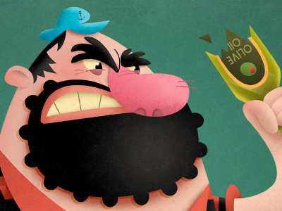 Bluto the Brute, found on Matt's Dribbble